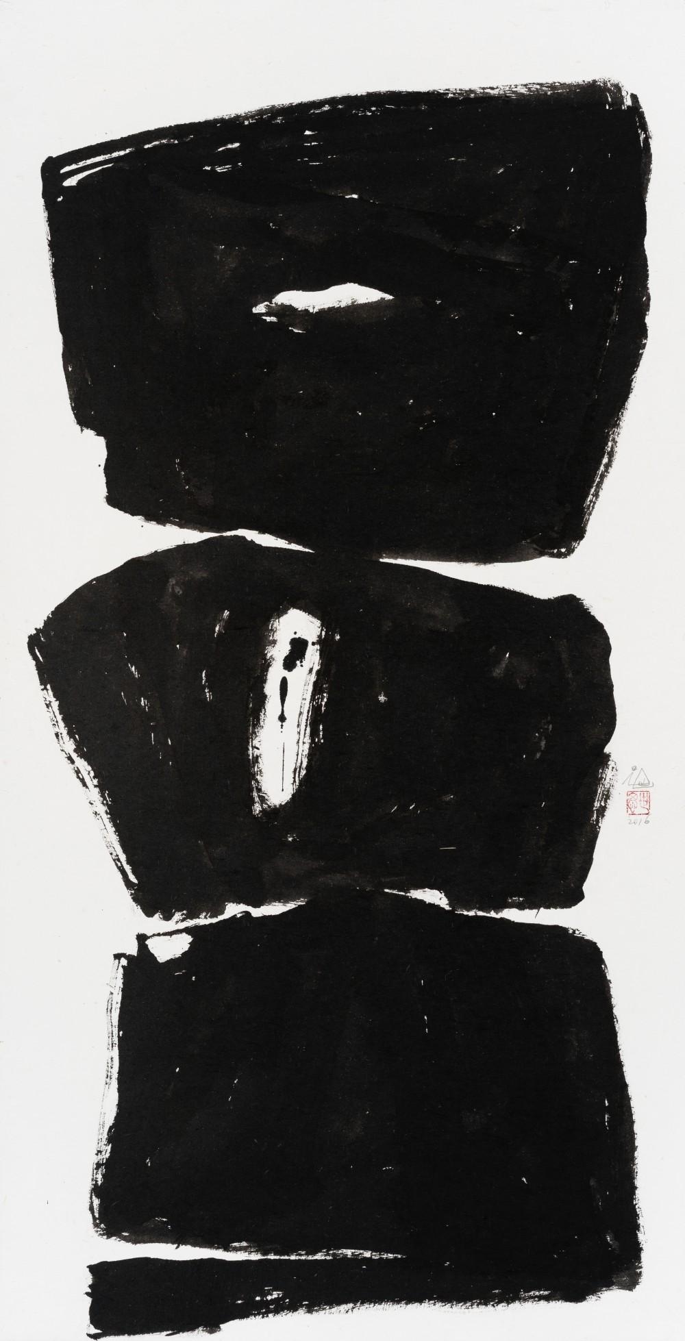 무제_Ink on Korean mulberry paper_144 x 74.5cm_2016