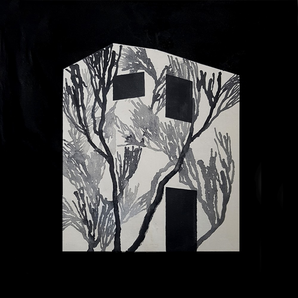 박소은_의도적 고립_94 x 94cm_광목천에 먹_2018